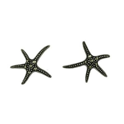 Marcasite Earring Starfish