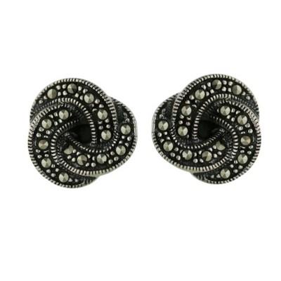 Marcasite Earring Stud Knots