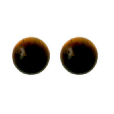 Sterling Silver Earring 6mm Tiger Eyes Stud
