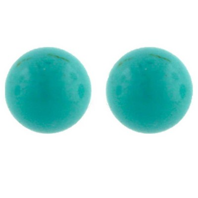 Sterling Silver Earring 12mm Faux Turquoise Stud