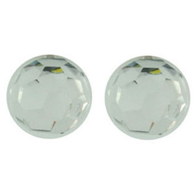 Sterling Silver Earring 12mm AB color Cyrstal Crystal Ball Stud