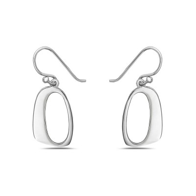 Sterling Silver Earring Plain Open Round with Fish Hook--E-coated/Nickle Free--