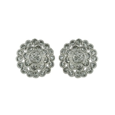 Sterling Silver Earring Stud 11 mm Dimaeter Flower