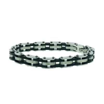 Stainless Steel Bracelet 3Pcs Steel 2Pcs Rubber
