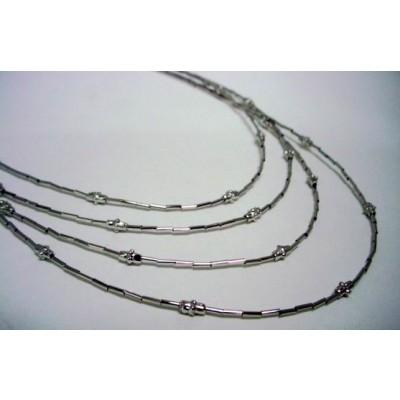 Sterling Silver Necklace 4 Strands