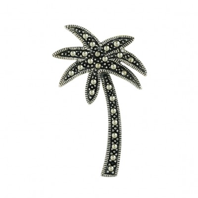 Marcasite Pendant Palm Tree