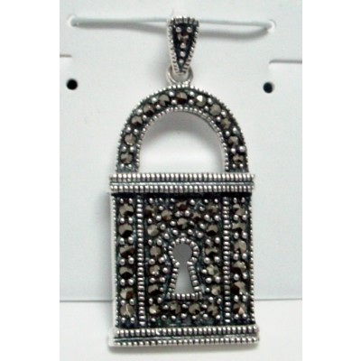 Marcasite Pndt Lock with Open Keyhole