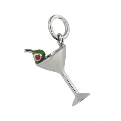 Sterling Silver Pendant #63 Dancing Green Epoxy+#83 Light Rd Epoxy with