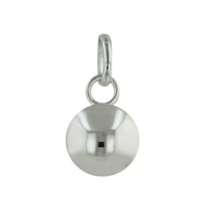Sterling Silver Plain Silver Ball Pendant 12mm