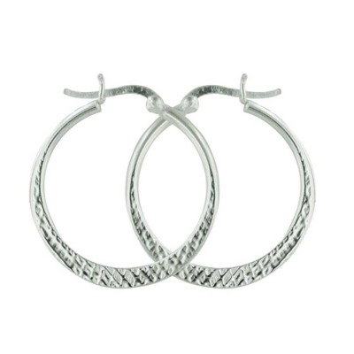 Sterling Silver Earring 30mm Earring Hoop E-coated