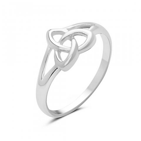 0185a5683 Sterling Silver Ring Celtic Trinity Knot