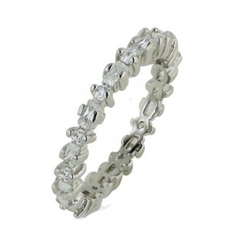 Brass Ring Clear Cz Eternity Band