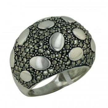 Marcasite Ring Pave Marcasite Plain Dots
