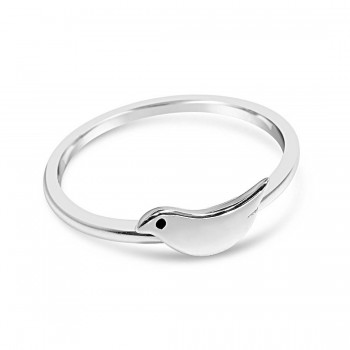 Sterling Silver Ring Tiny Bird