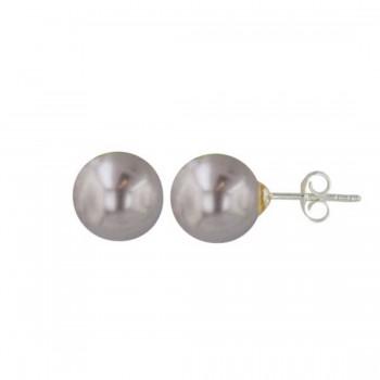 Sterling Silver Earring 10mm Imitation Pearl Stud Code:V1