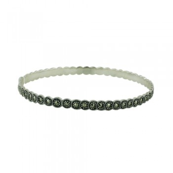 Marcasite Bangle 5mm Band Width