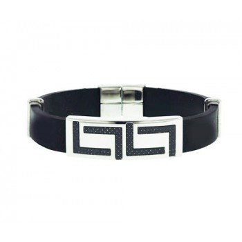 "Stainless Steel Bracelet Optic ""L"" Shapes"