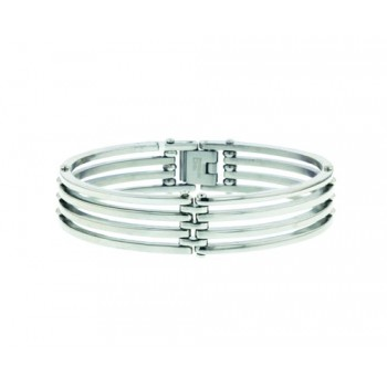 Stainless Steel Bracelet Four Steel Lines