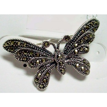 Marcasite Pin Butterfly