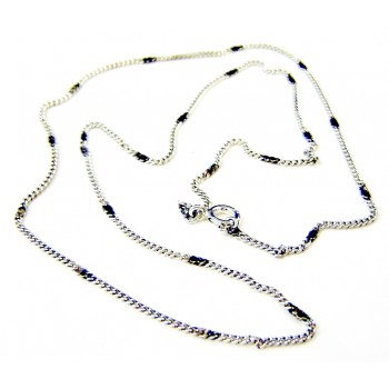 Sterling Silver Oxidized Single Chain 18 Inch