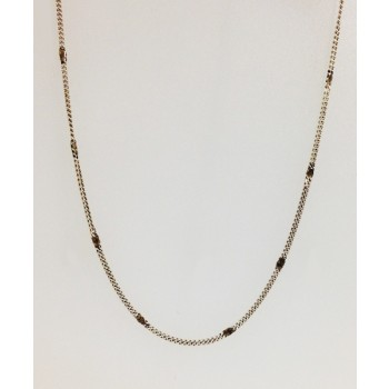 Sterling Silver Oxidized Single Chain 24 Inch