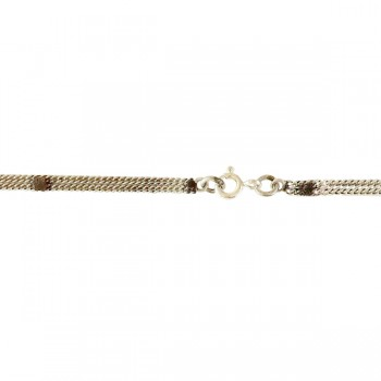 Sterling Silver Oxidized Double Chain 16 Inch
