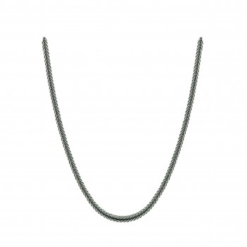 Sterling Silver Necklace Foxtail 20""