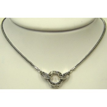 Marcasite Necklace with Open Locket 16""
