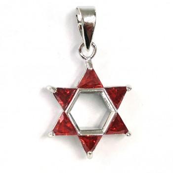 Brass Pdnt 17X17Mm Open Jewish Star 5 Triangel Gar