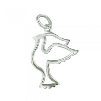 Brass Pendant Open Dove