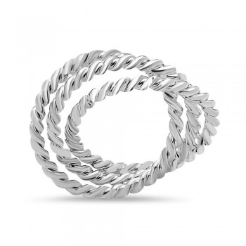 SS Pdnt Trinity Rope Circle***E-Coat, Silver