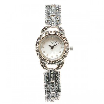 Marcasite Watch Rd Face