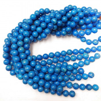 String Magnesite 12 Mm Beads Dyed Turquoise Color